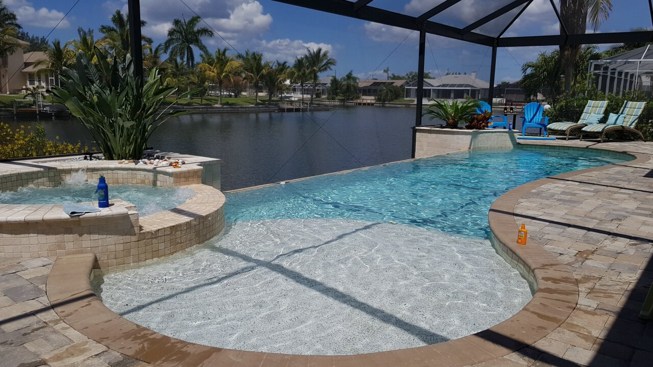 Amerikanischer Kühlschrank Expert : Top pool villa cape coral florida neu florida expert