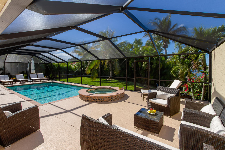 Amerikanischer Kühlschrank Expert : Villa cape coral 13107 u2013 in begehrter oasis area pool mit jacuzzi